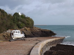 Jetty & lifeboat ramp, St. Catherine's Bay, Jersey